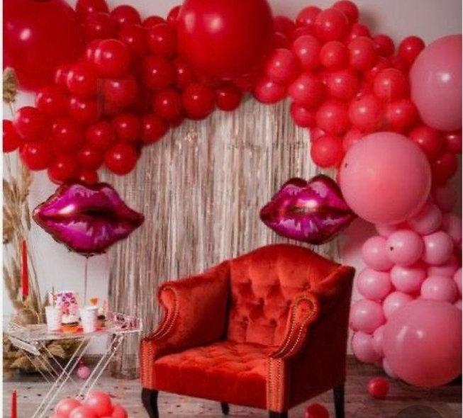Valentines Organic Balloon Garland