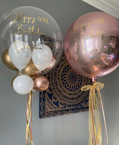 Personalised Gumball Balloon & Matching Orb