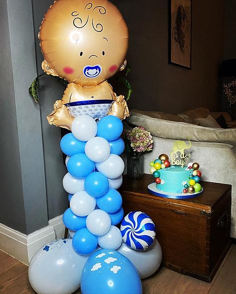 Baby Themed Balloon Column
