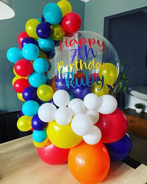 Personalised Organic Gumball Balloon