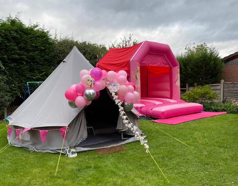 Bell tent & bouncy castle