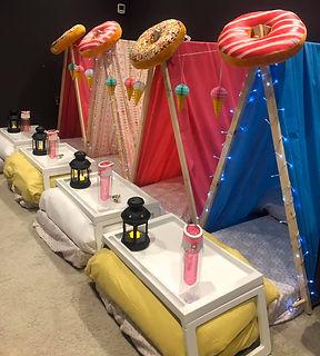 Donut themed kids sleepover