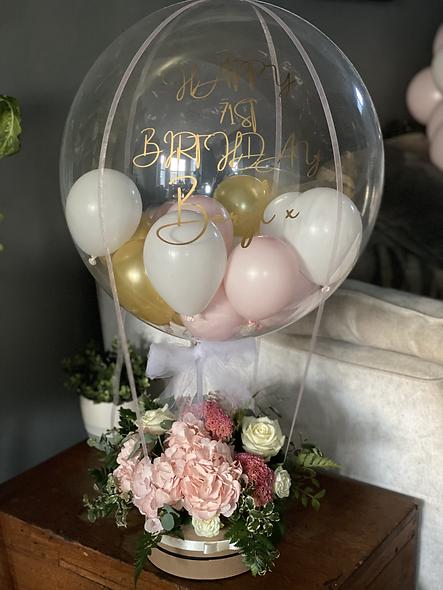 Hot Air Balloon & Fresh Flowers