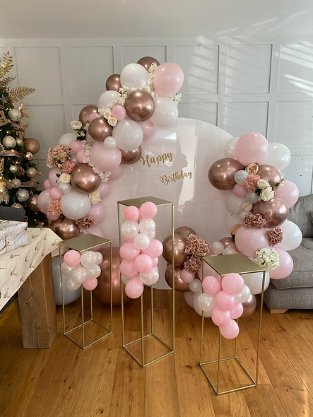 Celebration Personalised Backdrop, Balloons & Tables