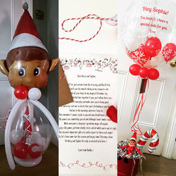 THE ELF RETURNS PERSONALISED BALLOONS & LETTERS