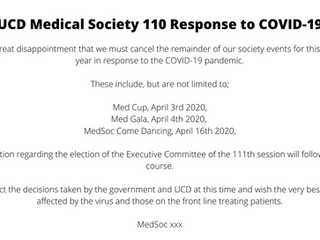 UCD MedSoc Response to COVID-19