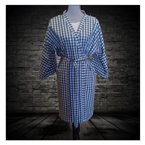 Kimono Vichy petróleo