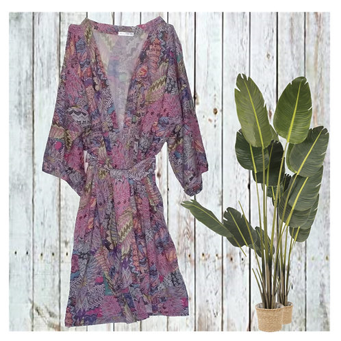 Kimono largo estampado pachtwork