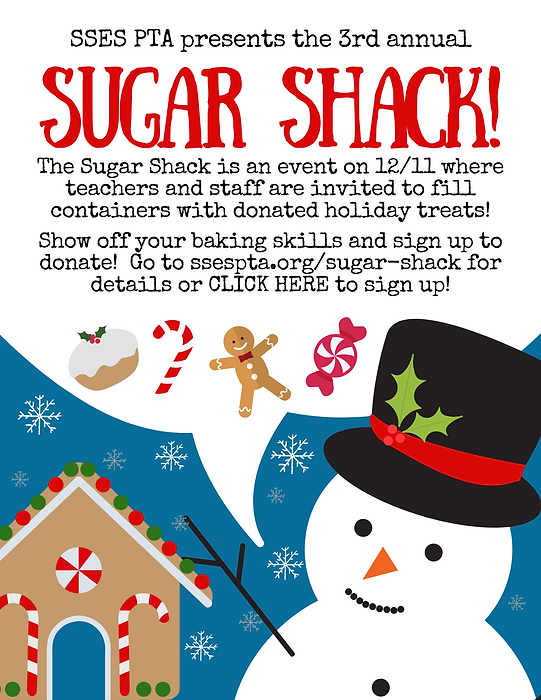 The Sugar Shack is an event on 12_11 whe