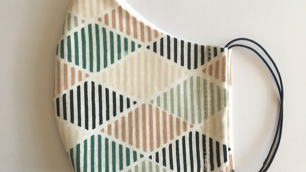 Diamond Stripe Pattern, Reusable - Non Medical Grade Facemask