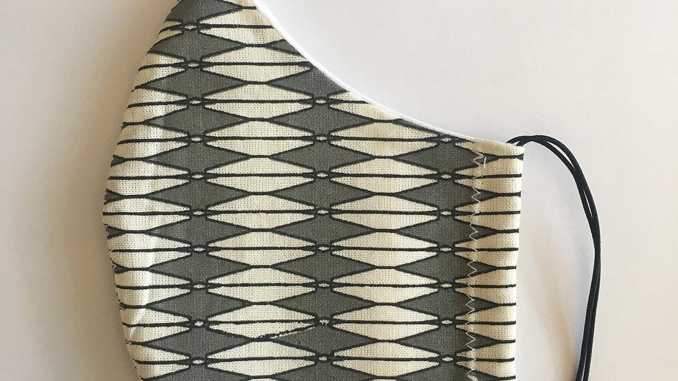 Backgammon Pattern, Reusable - Non Medical Grade Facemask