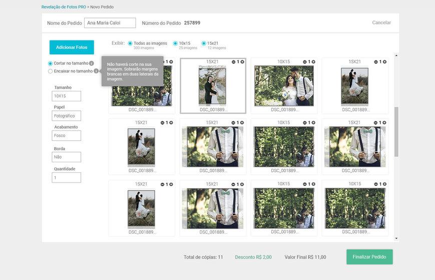 Sistema de Revelação de Fotos para lojas de fotografia