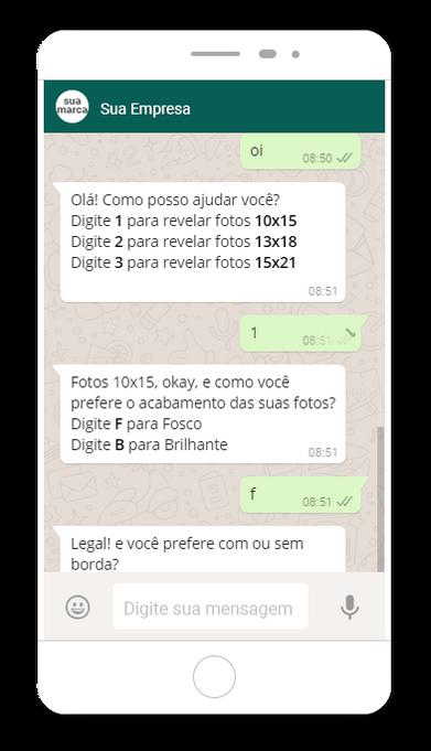 chat bot para venda de fotos onine