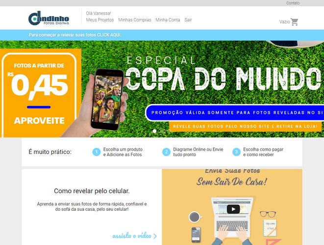 E-commerce para Loja de Fotografia