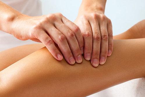 Massage jambes femme