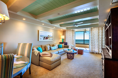 Gulf Front Vacation Rental Design Work by Holly Dennis Interiors