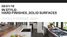 In Style: Hard Finishes - Solid Surfaces