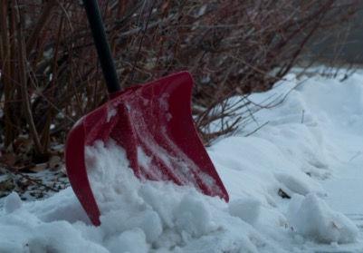 自宅前の除雪作業