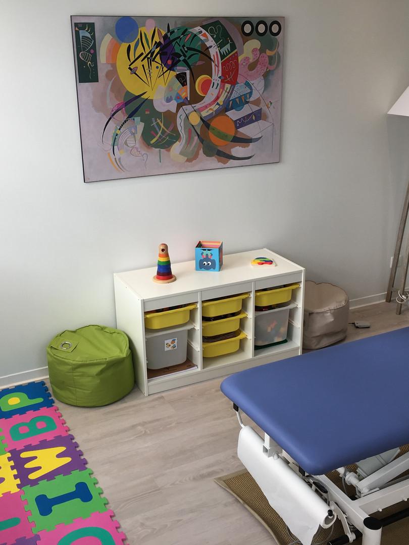 Espace enfant pour consultation pédiatrique