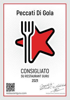 In data 01 Settembre abbiamo ricevuto un grande riconoscimento da parte di Restaurant Guru