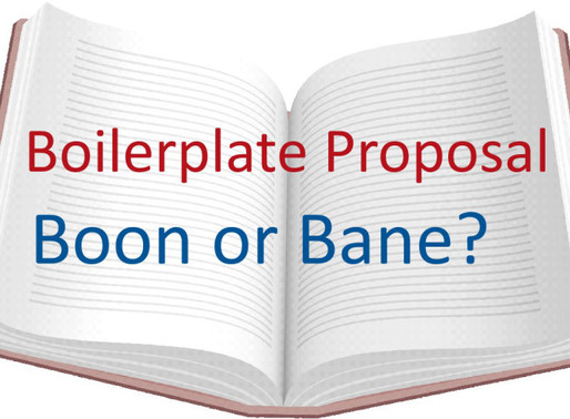 Avoid Overusing Irrelevant Boilerplate - #7 Proposal Development Process Improvement Lesson Learned