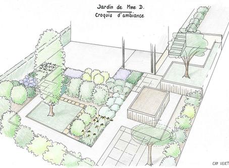 Un petit jardin de ville sans gazon