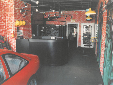 Downtown Front Desk - From middle of car