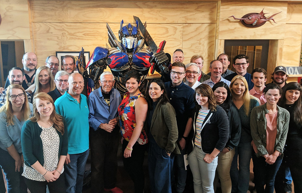 Disney Legend Bob Gurr visited and spoke to the AOA team as part of our Living Legends Speaking Series