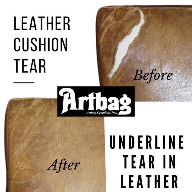 Leather Cushion Tear