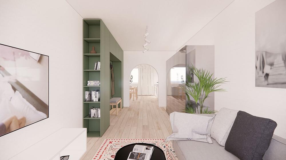 NOIZ ARCHITEKTI | concept flat PIFFLOVA