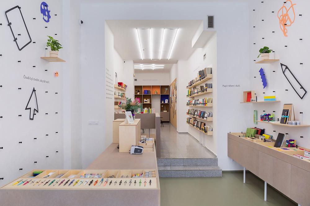 shop design by Václav Mlynář from Monument Office studio