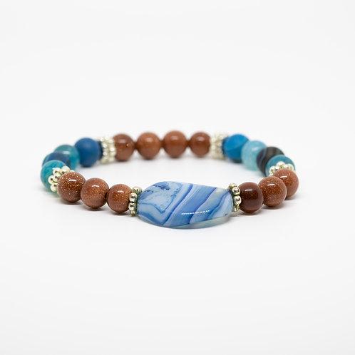 Goldstone, Blue Lace Agate