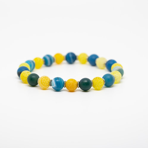 Yellow Agate, Blue Lace Agate