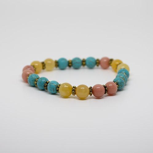 Lemon Quartz, Coral, Turquoise
