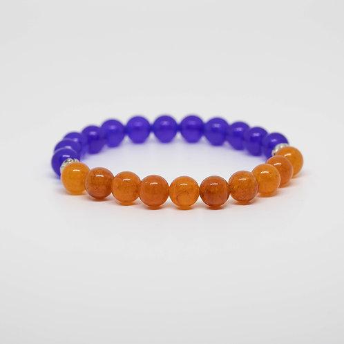 Blue Jade & Orange Quartz