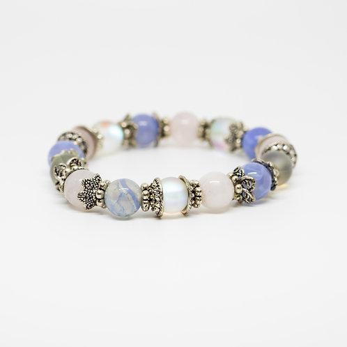 Moonstone, Blue Lace Agate, Rose Quartz