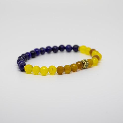 Yellow Agate & Lapis Lazuli