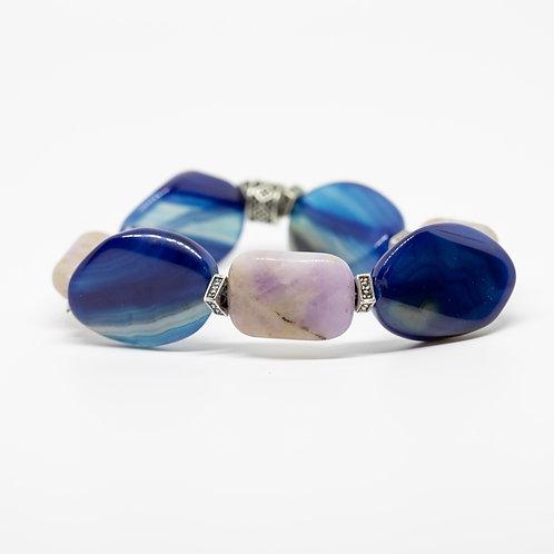 Amethyst, Blue Lace Agate