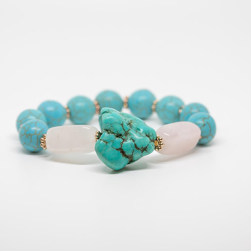 Rose Quartz, Turquoise