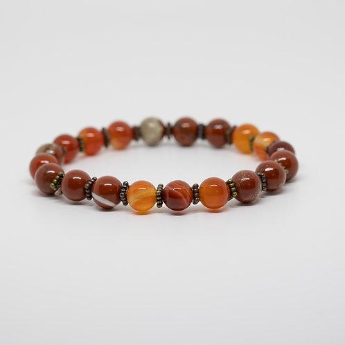 Red Jasper & Orange Quartz