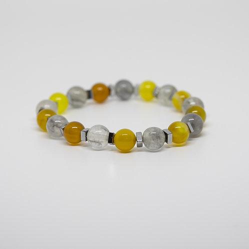 Yellow Agate & Quartz