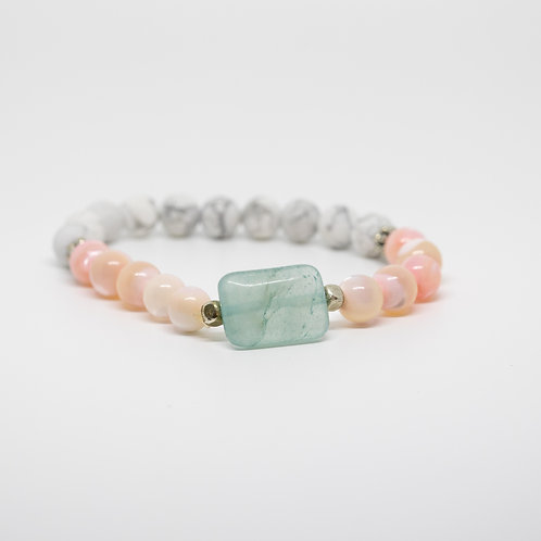 Mother of Pearl & Howlite