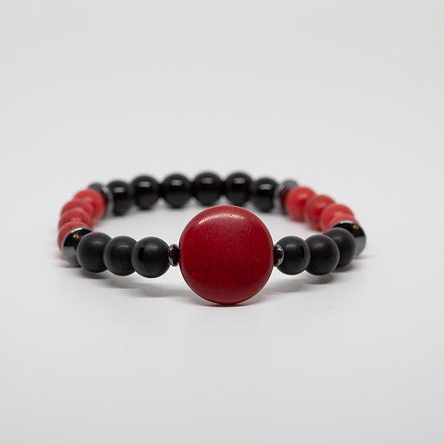 Red Howlite & Onyx