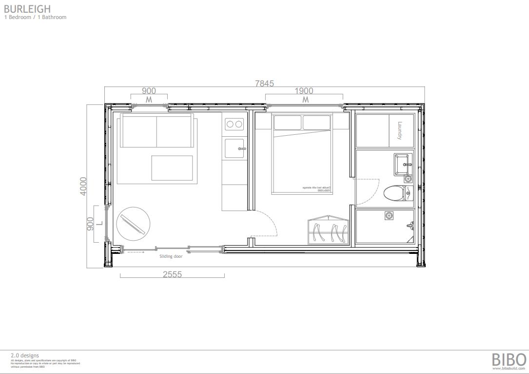 BURLEIGH BIBO 2.0 - OP C 1  bedroom 1 wc