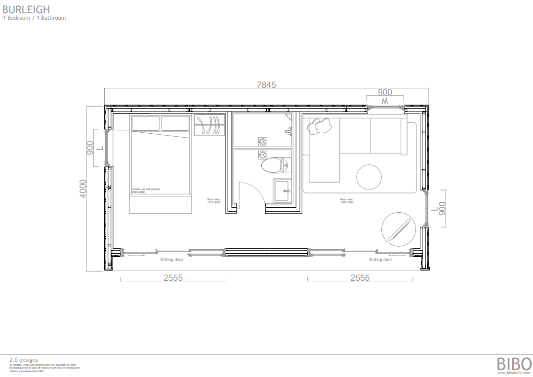 BURLEIGH BIBO 2.0 - OP B 1  bedroom 1 wc