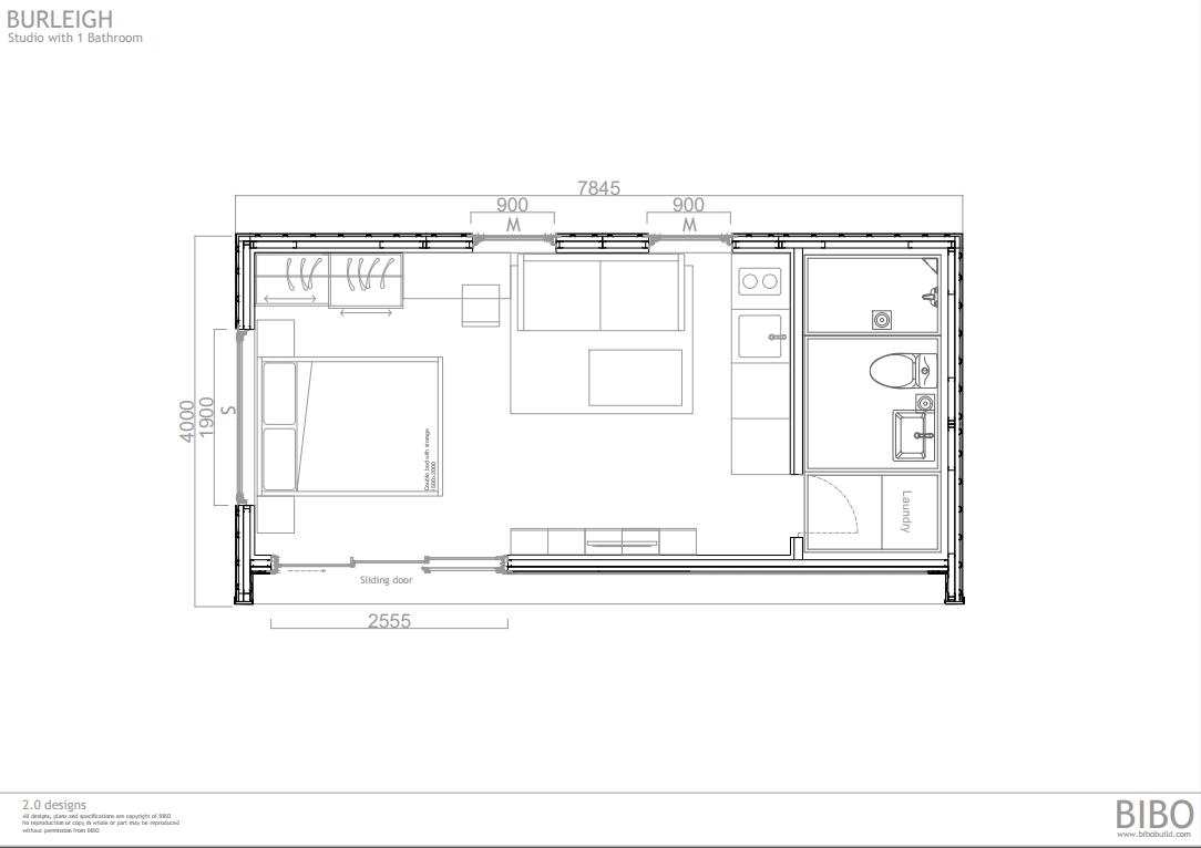 BURLEIGH BIBO 2.0 - OP A Studio with wc.