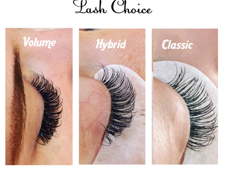 Which Lashes should I choose from?