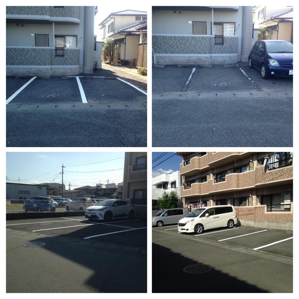 熊本市中央区平成 プラム・コート駐車場区画ライン工事