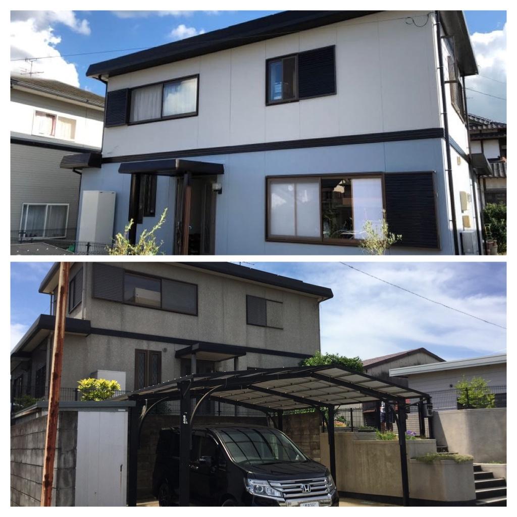 熊本県合志市幾久富 K様邸全面塗装工事