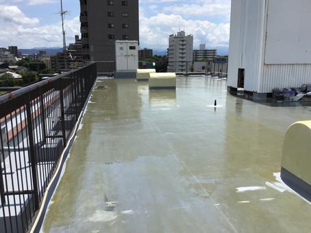熊本市中央区水前寺公園 Sビル 屋上防水工事